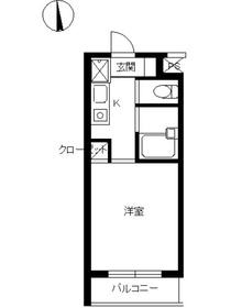 スカイコート高円寺第53階Fの間取り画像
