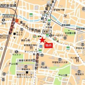 レガーロ西早稲田案内図