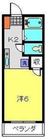 サザンポートC2階Fの間取り画像