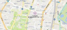 御成門駅 徒歩2分案内図