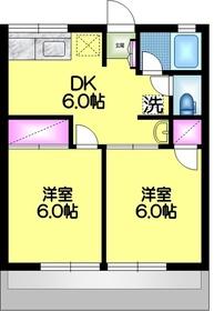 シティハイム コスモⅠ1階Fの間取り画像