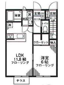 柿生駅 徒歩7分1階Fの間取り画像