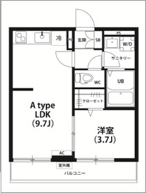 リブリ・villa mmc Ⅲ1階Fの間取り画像
