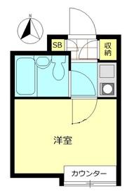 ウィンベル新宿百人町3階Fの間取り画像