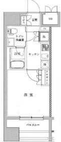 ライジングプレイス川崎13階Fの間取り画像