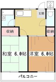 コーポ田村2階Fの間取り画像