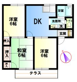 伊勢原駅 バス9分「串橋入口」徒歩7分1階Fの間取り画像