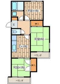 グランメールカヤの木1階Fの間取り画像