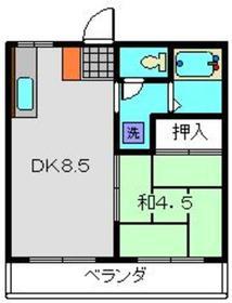 サニーオムロ2階Fの間取り画像