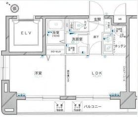 グリフィン横浜・高島町3階Fの間取り画像