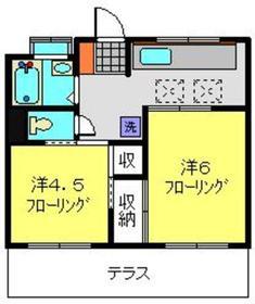 澤村マンション1階Fの間取り画像