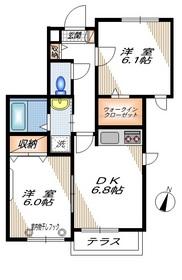 リゾヤグチ1階Fの間取り画像