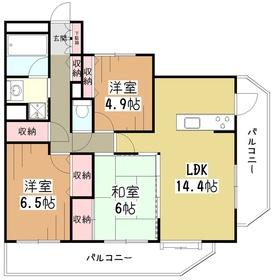 グラディート久米川4階Fの間取り画像