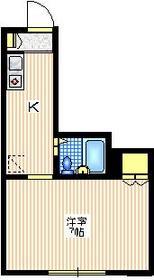 メゾン尾山台1階Fの間取り画像