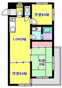 新高島平駅 徒歩17分1階Fの間取り画像