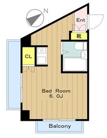 DOLLHOUSE ドールハウス2階Fの間取り画像