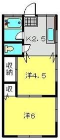 岩沢荘2階Fの間取り画像