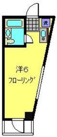 和田町駅 徒歩5分4階Fの間取り画像