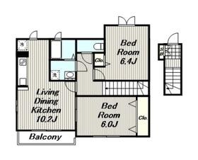 フェリーチェⅡ2階Fの間取り画像