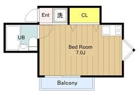 メゾンブルー2階Fの間取り画像