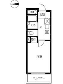 スカイコート神楽坂第25階Fの間取り画像