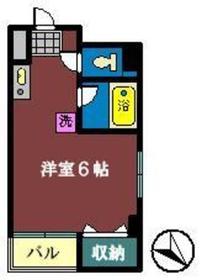 マリーナ・タカケンビルNO56階Fの間取り画像