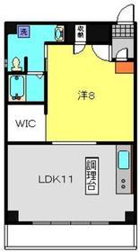 クレストK24階Fの間取り画像