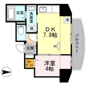 エム ドマーニ5階Fの間取り画像