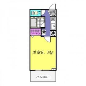 ラフィーネ1階Fの間取り画像
