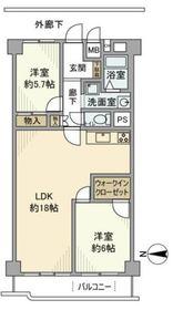 日清第2横浜コーポ7階Fの間取り画像