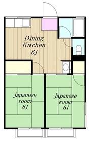 シティハイム永野2階Fの間取り画像