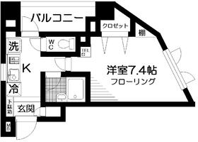 ドゥリヴィエール4階Fの間取り画像