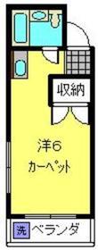桜ハイム2階Fの間取り画像