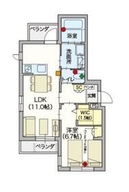 ヘーベルVillage 新江古田2階Fの間取り画像