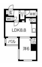 スパシエルクス横浜7階Fの間取り画像