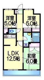 ボヌール西新井本町1階Fの間取り画像