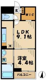 カーサイナギ(Casa Inagi)1階Fの間取り画像