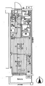 ガーラ・グランディ川崎西口2階Fの間取り画像