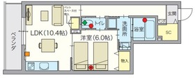 (シニア限定・ペット共生)アルモニーレジダンス氷川台4階Fの間取り画像