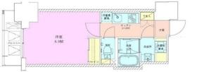 半蔵門レジデンス8階Fの間取り画像
