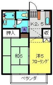 ロベルトガーデン2階Fの間取り画像