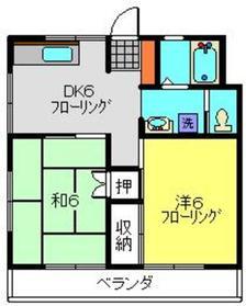 セブンハイム2階Fの間取り画像