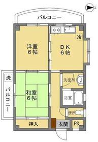 メゾンヴェルト II2階Fの間取り画像