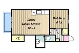森屋マンション2階Fの間取り画像
