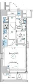 エストゥルース西横浜2階Fの間取り画像