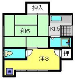 寺谷Ⅱ和1階Fの間取り画像