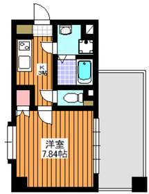 成増駅 徒歩3分7階Fの間取り画像