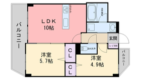 KIERRASAARI6階Fの間取り画像