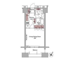 パークアクシス白金台2階Fの間取り画像