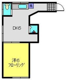 近藤荘2階Fの間取り画像